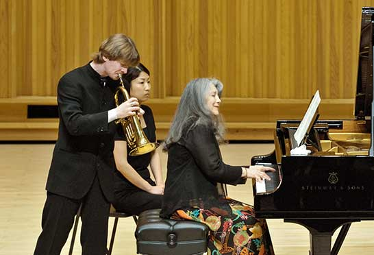 With Martha Argerich in Japan, Beppu