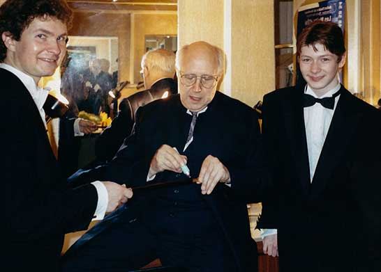 With Mstislav Rostropovich and Kirill Rodin in Bordeaux, 1993