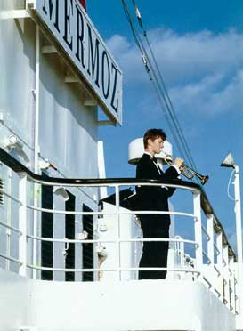 "At the ship ""Mermoz"", during the music cruise in 1993"