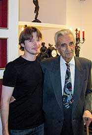 With Alexander Arutiunian, after his 90th birthday concert