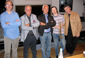 "During the recording session with Vladimir Spivakov and the ""Moscow Virtuosi"""