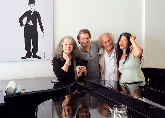 With Martha Argerich, Ivry Gitlis and Lyda Chen in Cyprus